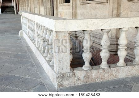 Balustrade Of The Palladian Basilica In The City Of Vicenza