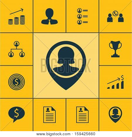 Set Of Management Icons On Female Application, Tournament And Phone Conference Topics. Editable Vector Illustration. Includes List, Discussion, Success And More Vector Icons.
