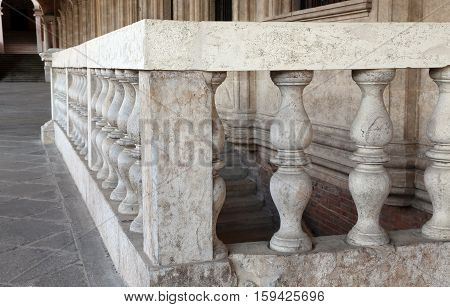 Detail Of The Stone Balustrade Of The Palladian Basilica In The