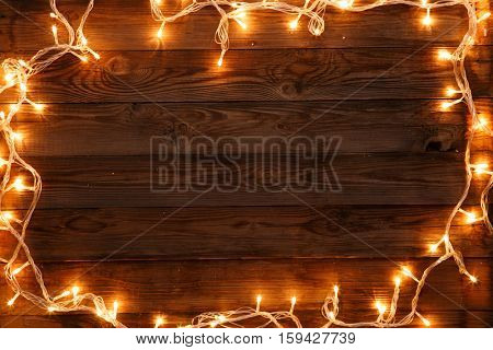 Wooden background for Christmas words