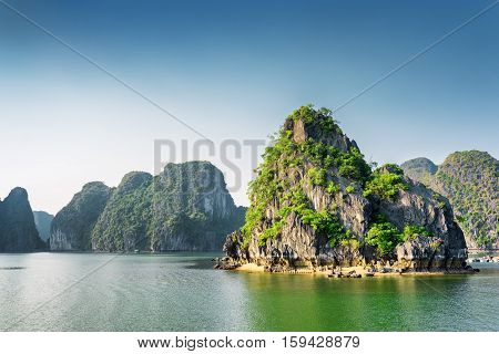 Beautiful View Of The Ha Long Bay, The South China Sea, Vietnam