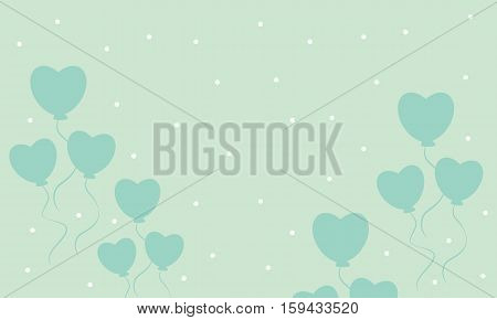 Love balloon backgrounds vector art collection stock