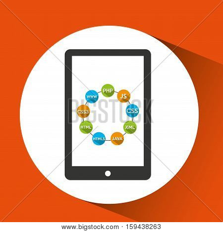 programming languages smartphone source code vector illustration eps 10