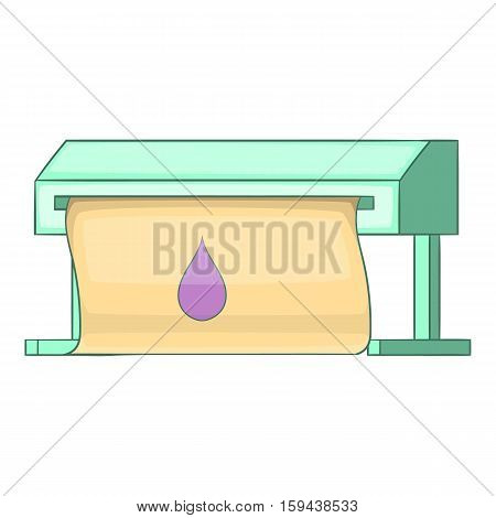 Plotter icon. Cartoon illustration of plotter vector icon for web design