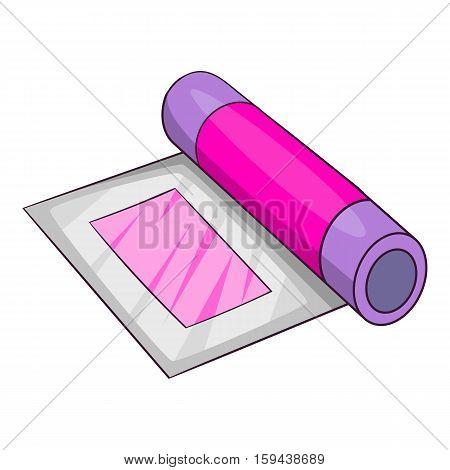 Platen for printing machine icon. Cartoon illustration of platen for printing machine vector icon for web design