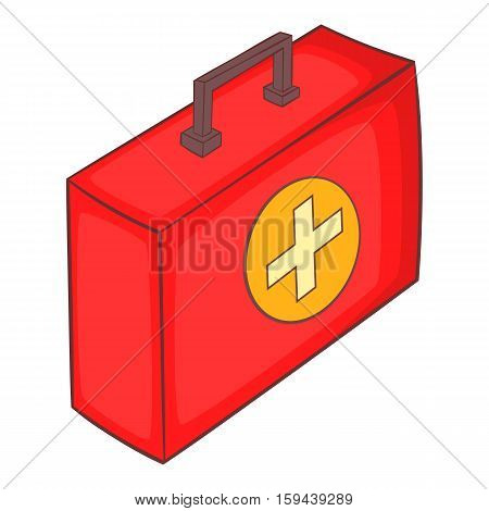 Medicine chest icon. Cartoon illustration of medicine chest vector icon for web