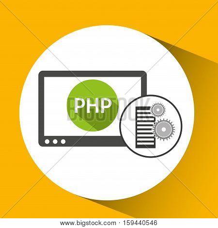 database setting php computer web vector illustration eps 10