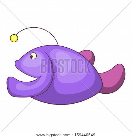 Angler fish icon. Cartoon illustration of angler fish vector icon for web