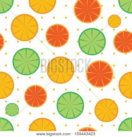 Citrus Slices Seamless Pattern Background