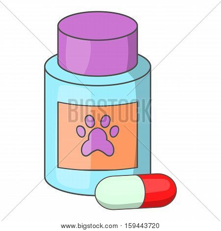 Vitamins or medicament for animals icon. Cartoon illustration of vitamins or medicament for animals vector icon for web