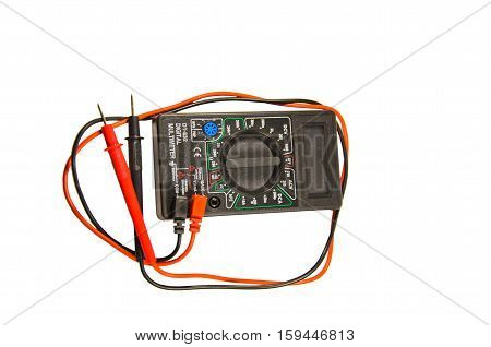 Digital multimeter isolated on a white background