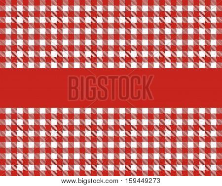 Classic tablecloth background with stripe red white