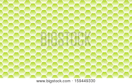 Honeycomb pattern background light green and white