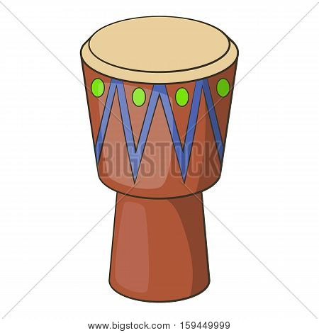 Ethnic drum icon. Cartoon illustration of ethnic drum vector icon for web
