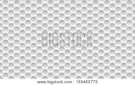 Honeycomb pattern background light grey white seamless