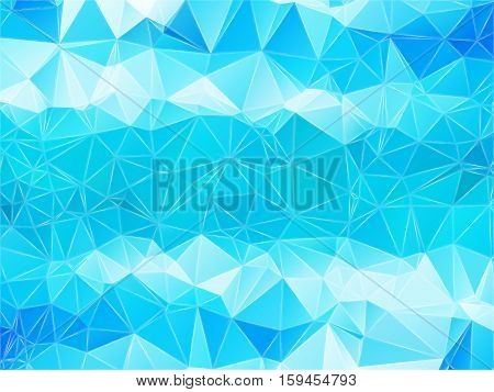 Abstract geometric pattern composed of triangular polygons. Polygon background. Triangulated wallpaper. Triangulated blue background. Vector illustration.