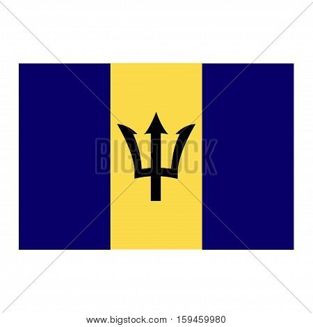 Flag of Barbados on a white background