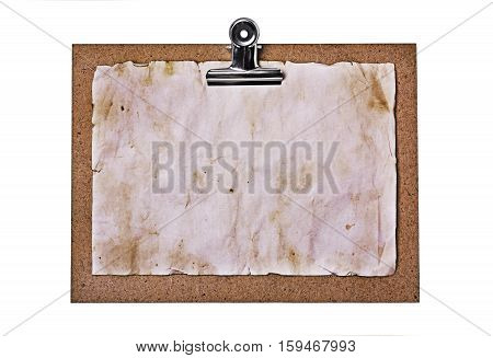 Old Clipboard And Grunge Paper Sheet