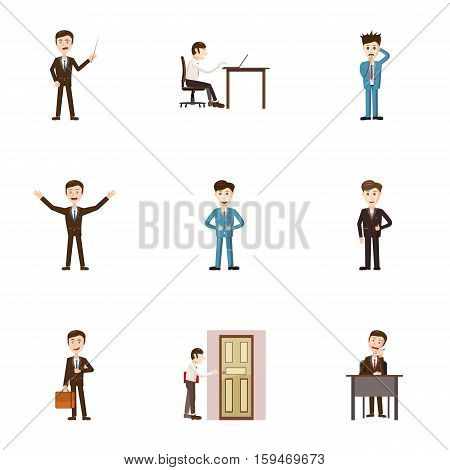 Earnings icons set. Cartoon illustration of 9 earnings vector icons for web