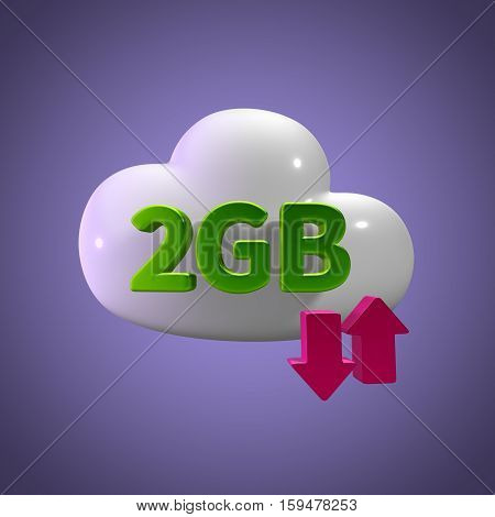 3d rendering cloud download upload 2  gb capacity