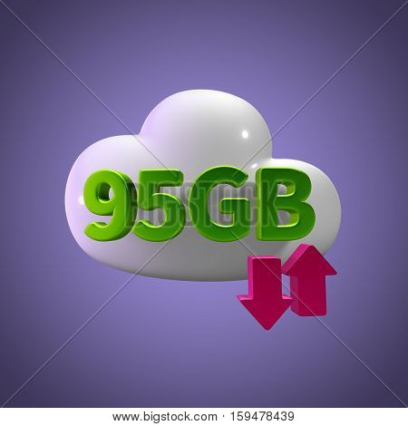 3d rendering cloud download upload  95 gb capacity