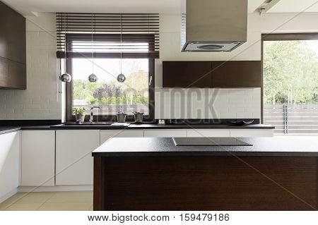 Modern Kitchen With White Cabinet