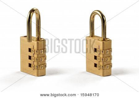 Combination Lock - Unlocked And Locked