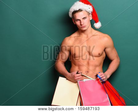 Handsome Macho Santa Man