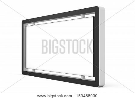 Lightbox On white Background. 3D rendering. Business template