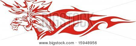 Flaming deer vector illustration, great for vehicle graphics, stickers and T-shirt designs. Ready for vinyl cutting.