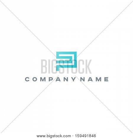 Ps Sp monogram logo template. Letter monogram.