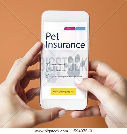 Pet Insurance Care Guarantee Concept