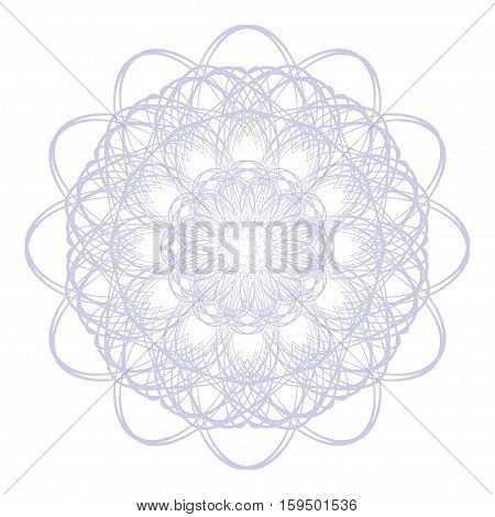 Elegant Guilloche Decorative Rosette Element