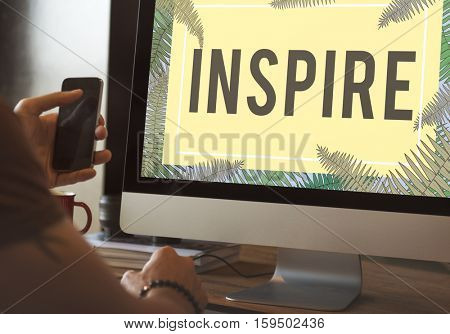 Inspire Positive Thinking Graphic Concept
