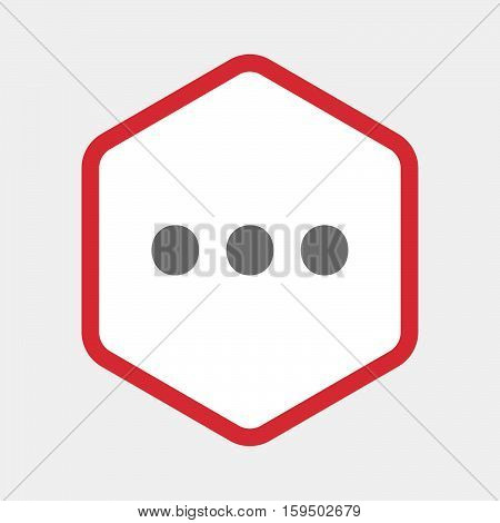 Isolated Hexagon With  An Ellipsis Orthographic Sign