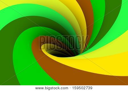 black hole multicolored background green 3d illustration
