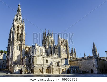 Cathedral in Burgos Spain which is under protection of UNESCO