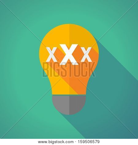 Long Shadow Bulb With  A Xxx Letter Icon