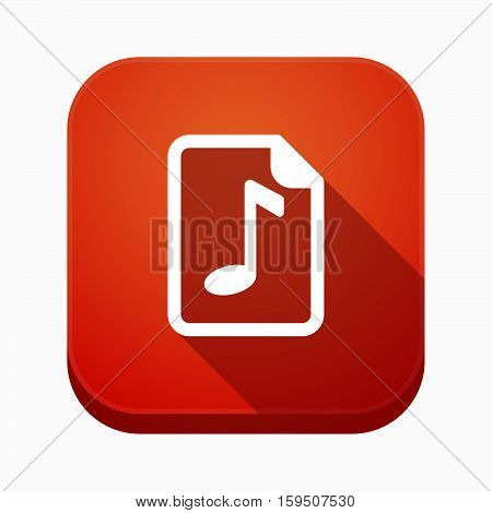 Isolated App Icon With  A Music Score