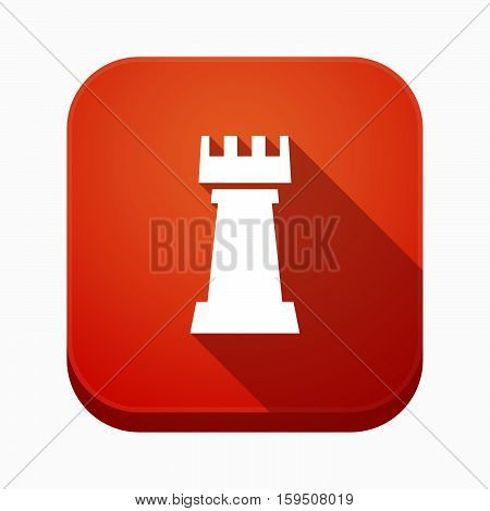 Isolated App Button With A  Rook   Chess Figure