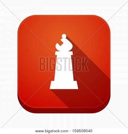 Isolated App Button With A Bishop    Chess Figure