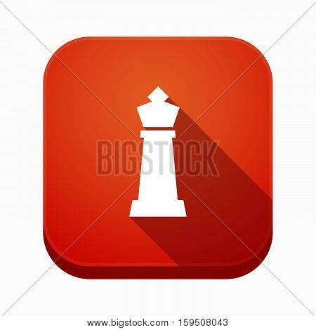 Isolated App Button With A  King   Chess Figure