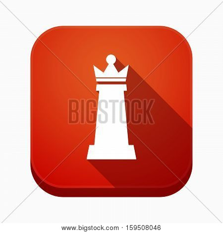 Isolated App Button With A  Queen   Chess Figure