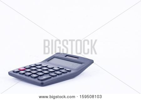 calculator for calculating the numbers accounting accountancy finance business calculation  on white background  finance isolated