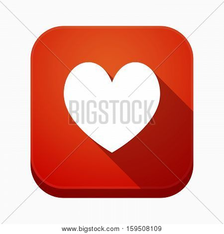 Isolated App Button With  The Heart Poker Playing Card Sign