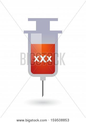 Isolated Syringe With  A Xxx Letter Icon