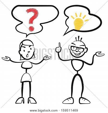 Stick Figure Questionnaire And Idea Persona