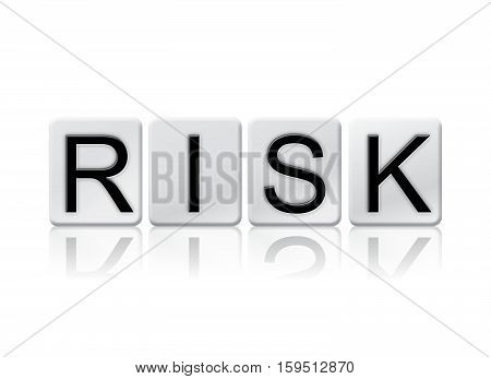 Risk Isolated Tiled Letters Concept And Theme