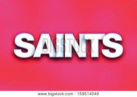 Saints Concept Colorful Word Art