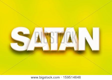 Satan Concept Colorful Word Art